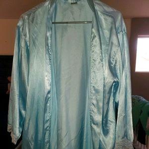 Light blue silk robe